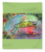 Just A Little Crabby Fleece Blanket