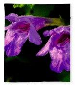Just A Little Wild Flower Fleece Blanket