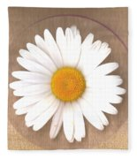 Just A Lonely Flower On Canvas Fleece Blanket