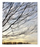 Just A Tree And Clouds Fleece Blanket