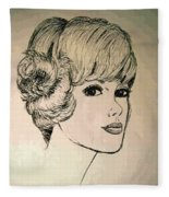 Just Another Pretty Face Fleece Blanket