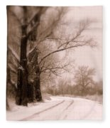 Just Around The Bend  Fleece Blanket