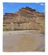 Just Around The River Bend 7 Fleece Blanket