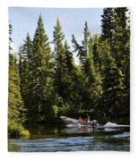 Just Around The River Bend Fleece Blanket