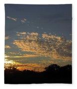 Just Before Sunset Fleece Blanket