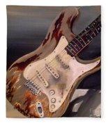 Just Broken In- Old Guitar Fleece Blanket