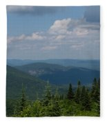 Just Climb Mountains And Breathe Deeply Fleece Blanket