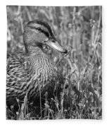 Just Ducky Bw Fleece Blanket