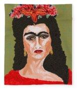 Just Frida Fleece Blanket