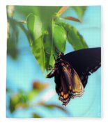 Just Hanging Out - Red-spotted Purple Butterfly Fleece Blanket