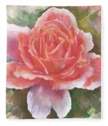 Just Joey Rose From The Acrylic Painting Fleece Blanket