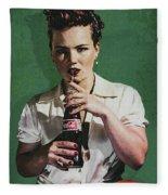 Just Like Old Times - Coca-cola Fleece Blanket