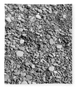 Just Rocks - Black And White Fleece Blanket