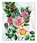 Just Roses Fleece Blanket