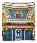 Justice Mural - Capitol - Madison - Wisconsin Fleece Blanket