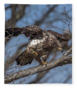 Juvenile Bald Eagle With A Fish Drb0218 Fleece Blanket