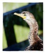 Juvenile Cormorant Profile Fleece Blanket