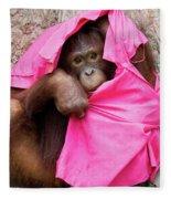 Juvenile Orangutan Fleece Blanket