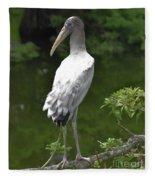 Juvenile Wood Stork Fleece Blanket