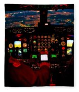 K C - 135 Stratotanker Cockpit Fleece Blanket