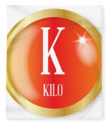 K For Kilo Fleece Blanket