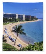 Kaanapali Beach Fleece Blanket