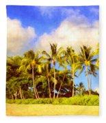 Kaanapali Beach Maui Fleece Blanket