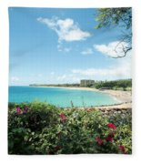 Kaanapali Maui Hawaii Fleece Blanket