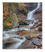 Kaaterskill Falls Autumn Portrait Fleece Blanket