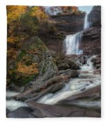 Kaaterskill Falls Autumn Square Fleece Blanket