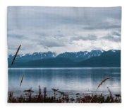 Kachemak Bay Pano Fleece Blanket