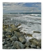 Kaena Point Shoreline Fleece Blanket