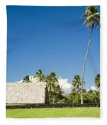 Kahanu Garden Hana Maui Hawaii Fleece Blanket