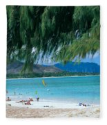 Kailua Beach Park Fleece Blanket