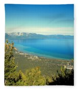 Lake Tahoe From The Top Of Heavenly Gondola Fleece Blanket