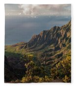 Kalalau Valley 3 Fleece Blanket