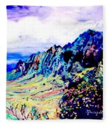 Kalalau Valley 4 Fleece Blanket