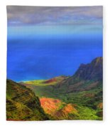 Kalalau Valley Fleece Blanket