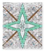 Kaleidoscope Of Winter Trees Fleece Blanket