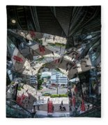 Kaleidoscopic Tokyo Fleece Blanket
