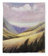 Kalihi Valley Art Fleece Blanket