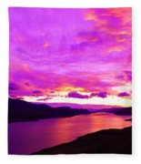 Kamloops Lake At Dawn Fleece Blanket