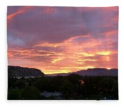 Kamloops Sunset 2 Fleece Blanket