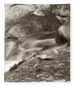 Kanaka Creek Bw Fleece Blanket