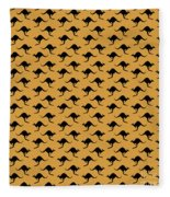 Kangaroo Pattern Fleece Blanket