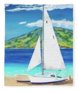 Kanoa At Kaanapali Beach Maui Fleece Blanket