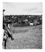 Kansas: Cattle, C1900 Fleece Blanket