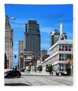 Kansas City Cross Roads Fleece Blanket