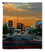Kansas City Evening Fleece Blanket