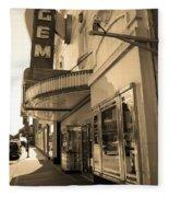 Kansas City - Gem Theater Sepia 2 Fleece Blanket